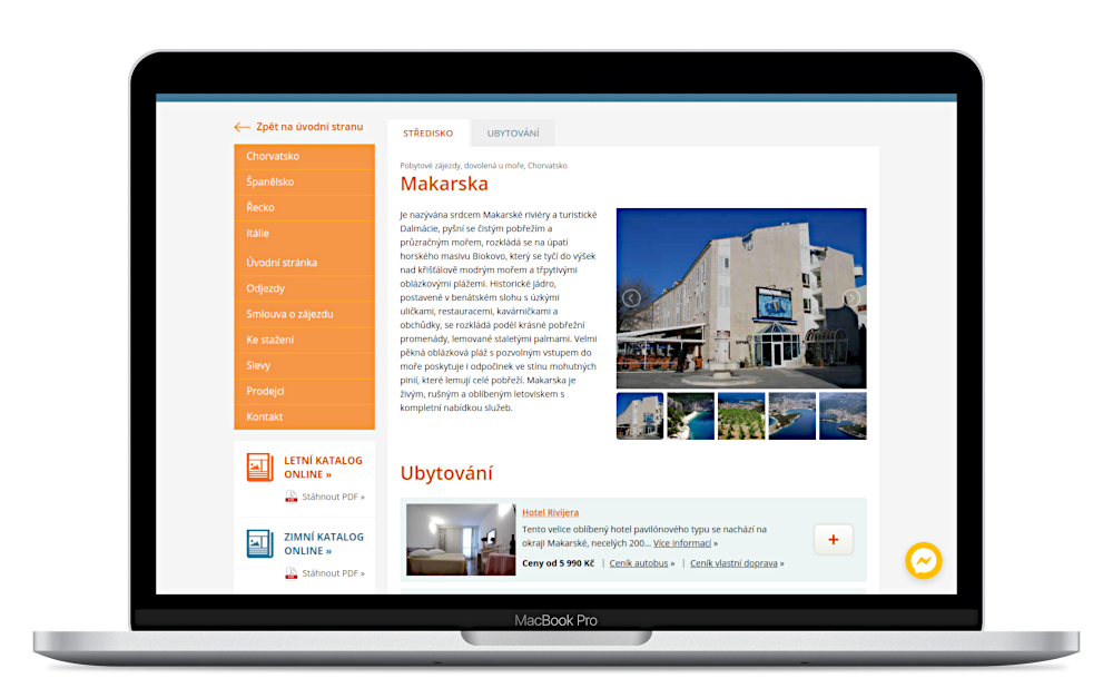 Web Design - About the project - Intertrans.cz